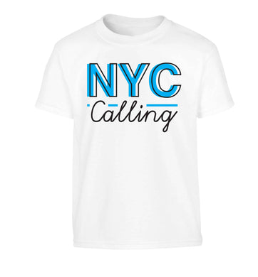 NYC calling Children's white Tshirt 12-13 Years