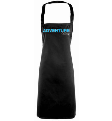 Adventure calling black apron