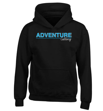 Adventure calling children's black hoodie 12-13 Years