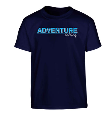 Adventure calling Children's navy Tshirt 12-13 Years