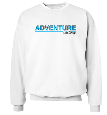 Adventure calling Adult's unisex white Sweater 2XL