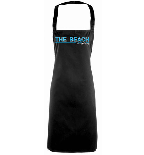 The beach is calling black apron