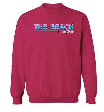 The beach is calling Adult's unisex pink Sweater 2XL