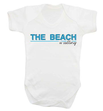 The beach is calling Baby Vest white 18-24 months