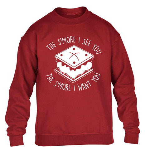 The s'more I see you the s'more I want you children's grey sweater 12-13 Years