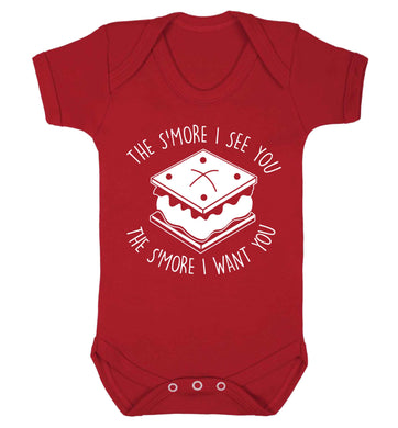 The s'more I see you the s'more I want you Baby Vest red 18-24 months
