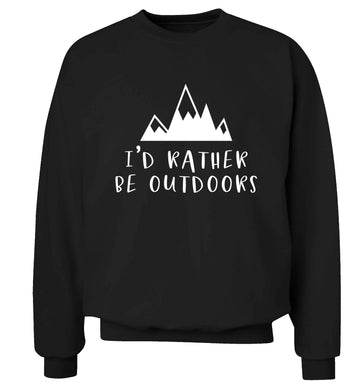 I'd rather be outdoors Adult's unisex black Sweater 2XL