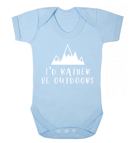 I'd rather be outdoors Baby Vest pale blue 18-24 months