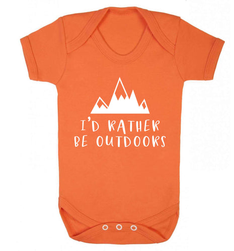 I'd rather be outdoors Baby Vest orange 18-24 months