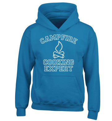 Campfire cooking expert children's blue hoodie 12-13 Years