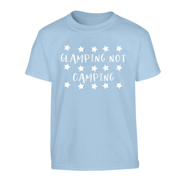 Glamping not camping Children's light blue Tshirt 12-13 Years