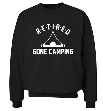 Retired gone camping Adult's unisex black Sweater 2XL