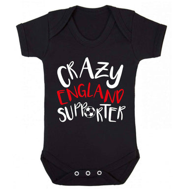 Crazy England supporter Baby Vest black 18-24 months