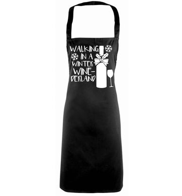 Walking in a wine-derwonderland black apron