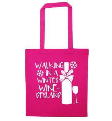 Walking in a wine-derwonderland pink tote bag