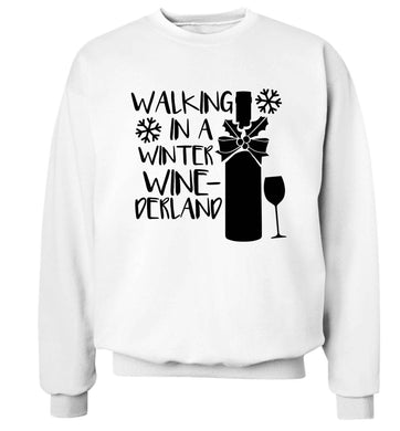 Walking in a wine-derwonderland Adult's unisex white Sweater 2XL