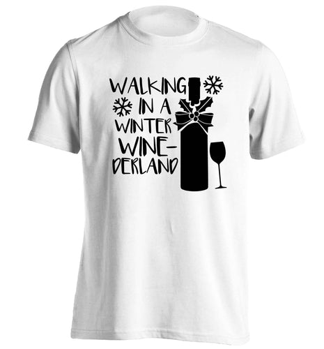 Walking in a wine-derwonderland adults unisex white Tshirt 2XL