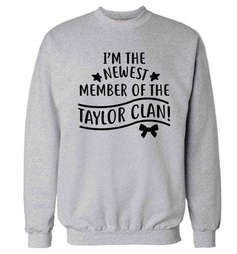 Personalised, newest member of the Taylor clan Adult's unisex grey Sweater 2XL