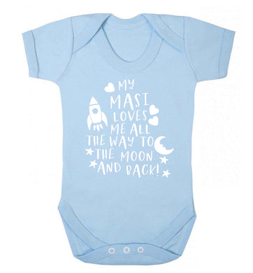 My masi loves me all the way to the moon and back Baby Vest pale blue 18-24 months