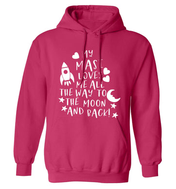 My masi loves me all the way to the moon and back adults unisex pink hoodie 2XL