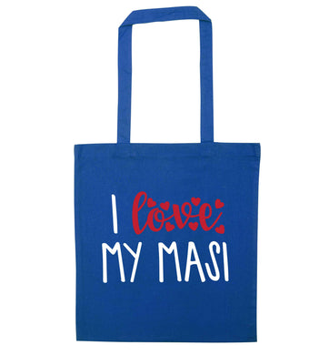 I love my masi blue tote bag