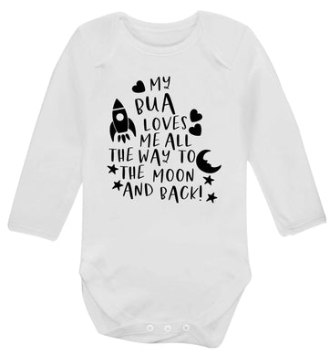 My bua loves me all they way to the moon and back Baby Vest long sleeved white 6-12 months