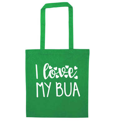 I love my bua green tote bag