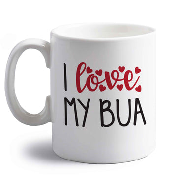 I love my bua right handed white ceramic mug