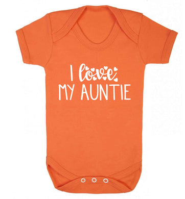 I love my auntie Baby Vest orange 18-24 months