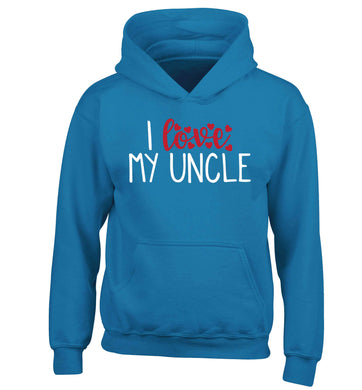 I love my uncle children's blue hoodie 12-13 Years