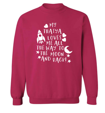 My thaiya loves me all the way to the moon and back Adult's unisex pink Sweater 2XL
