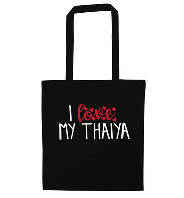 I love my thaiya black tote bag