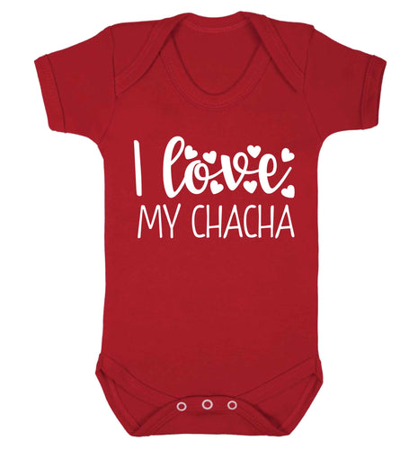 I love my chacha Baby Vest red 18-24 months