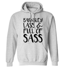 Barnsley lass and full of sass adults unisex grey hoodie 2XL