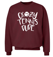 Crazy tennis dude Adult's unisex maroon Sweater 2XL