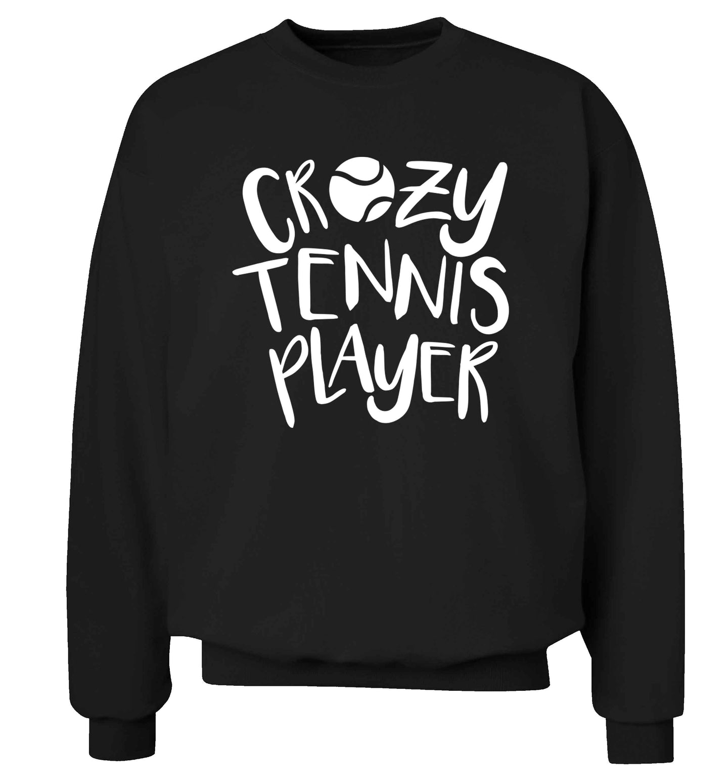 Crazy tennis player Adult's unisex black Sweater 2XL