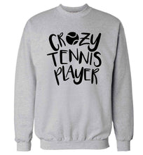 Crazy tennis player Adult's unisex grey Sweater 2XL