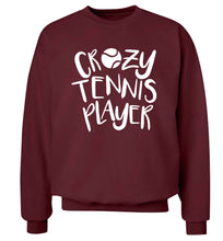 Crazy tennis player Adult's unisex maroon Sweater 2XL