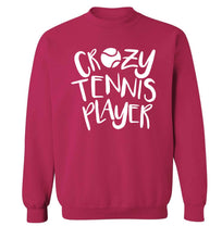 Crazy tennis player Adult's unisex pink Sweater 2XL