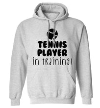 Tennis player in training adults unisex grey hoodie 2XL