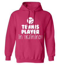Tennis player in training adults unisex pink hoodie 2XL
