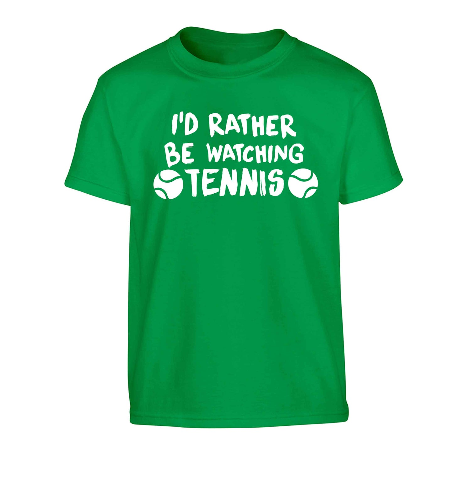 I'd rather be watching the tennis Children's green Tshirt 12-13 Years