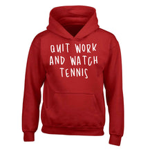 Quit work and watch tennis children's red hoodie 12-13 Years