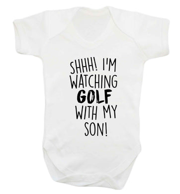 Shh I'm watching golf with my son Baby Vest white 18-24 months