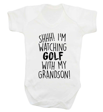 Shh I'm watching golf with my grandsonBaby Vest white 18-24 months