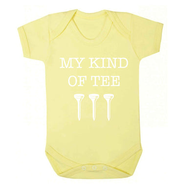 My kind of tee Baby Vest pale yellow 18-24 months