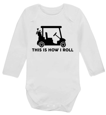 This is how I roll golf cart Baby Vest long sleeved white 6-12 months