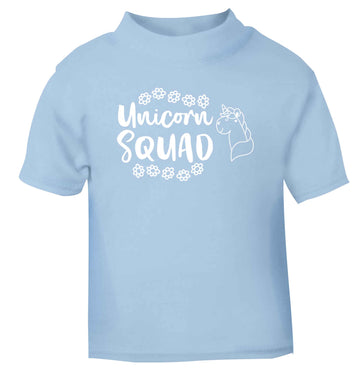 Unicorn Squad light blue Baby Toddler Tshirt 2 Years