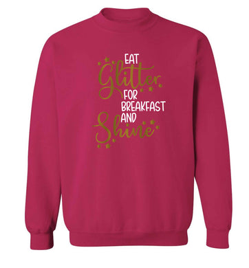 Eat glitter for breakfast and shine all day Adult's unisex pink Sweater 2XL