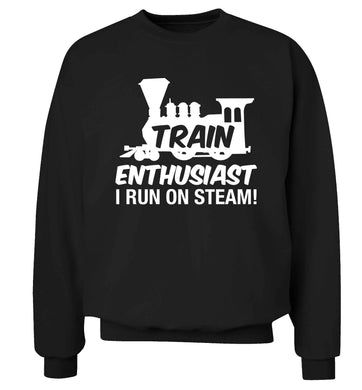 Train enthusiast I run on steam Adult's unisex black Sweater 2XL